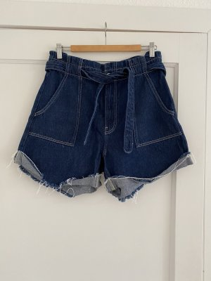 Zara Paperbag Shorts aus Denim