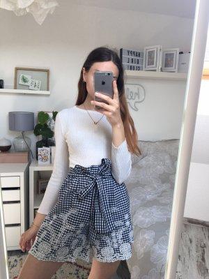 Zara Paperbag Shorts Highwaist Lochstickerei S/36