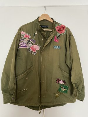 Zara parka Jacke military khaki