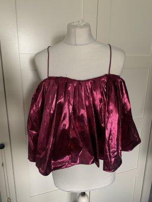 Zara Partyoberteil Pink Metallic Gr.M/36-38 Neu
