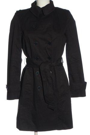 Zara Pea Coat black casual look