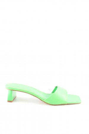 Zara Peep Toe Pumps green casual look