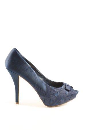Zara Peeptoe Pumps blau Business-Look