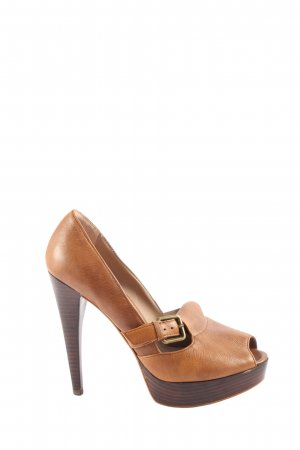 Zara Peeptoe Pumps braun Business-Look
