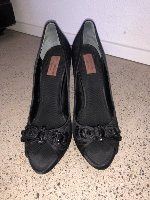 Zara Peeptoe Pumps 41 Satin