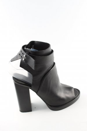 Zara Peeptoe Pumps schwarz Casual-Look