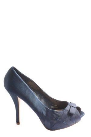 Zara Peeptoe Pumps blau Casual-Look