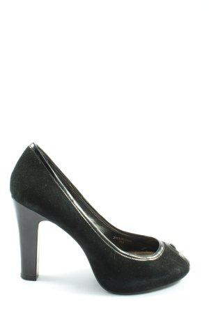 Zara Peeptoe Pumps schwarz Elegant