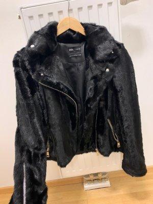 Zara Giacca in pelliccia nero