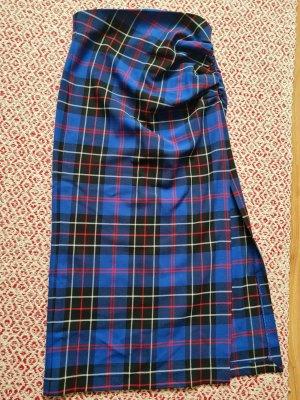Zara Asymetryczna spódniczka czarny-niebieski