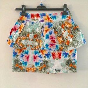 Zara Woman Gonna a vita alta multicolore Tessuto misto