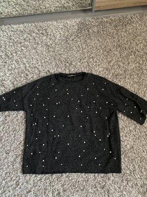 Zara perlenbestickter Pullover
