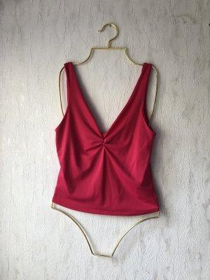 Zara Pinkes Top mit Knotendetail
