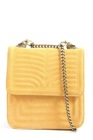 Zara Bandolera aviador amarillo pálido-color oro look casual