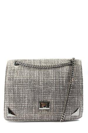 Zara Sac postier gris clair-blanc imprimé allover style décontracté