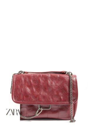Zara Borsa messenger rosso stile casual