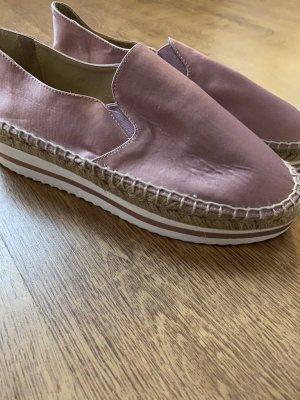 Zara Plateau Espadrilles Sandalen Schuhe Rosa Pink Weiß 37
