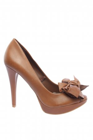 Zara Plateau-Pumps braun Casual-Look
