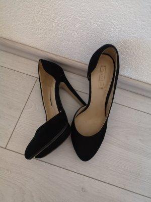 Zara Buty na platformie czarny Skóra