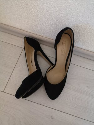 Zara Escarpin à plateforme noir cuir