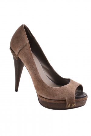 Zara Plateau-Pumps braun Business-Look