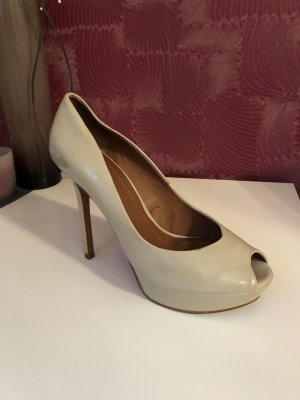 Zara Woman Platform Pumps oatmeal