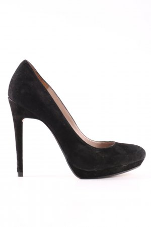 Zara Plateau-Pumps schwarz Business-Look