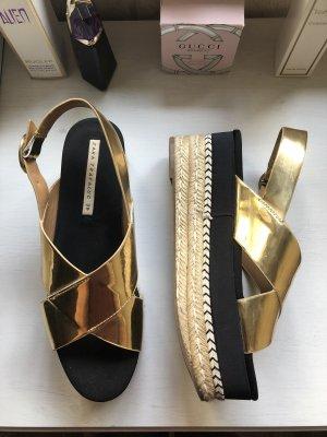 Zara Plateau Sandale Gold 39