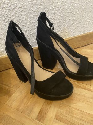 Zara Plateau Sandalen Pumps Blockabsatz High Heels