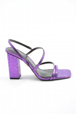 Zara Plateau-Sandaletten lila Elegant