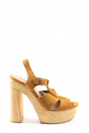 Zara Platform High-Heeled Sandal light orange casual look