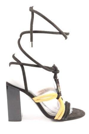 Zara Plateau-Sandaletten braun-blassgelb Elegant