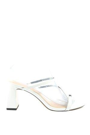 Zara Riemchen-Sandaletten weiß Casual-Look