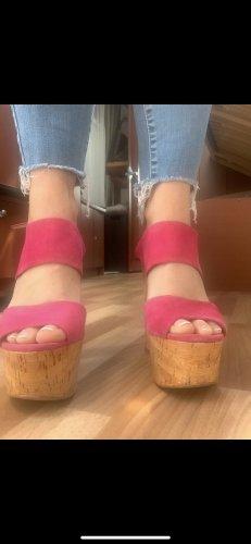 Zara Escarpin à plateforme rose