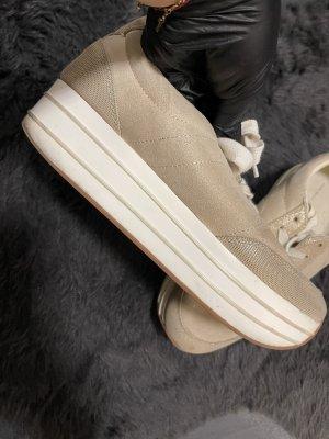 Zara Plateau Sneaker beige 41