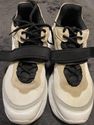 Zara Plateau Sneakers in weiß/beige/schwarz 41