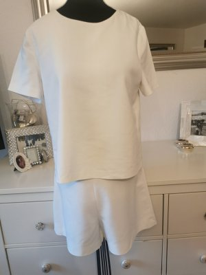 Zara Playsuit, Jumpsuit, Overall, kurz, wollweiß, 38