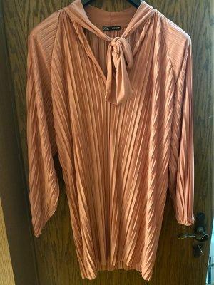 Zara Lange blouse stoffig roze Polyester