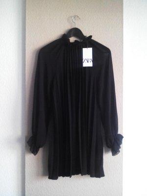 Zara Plissee-Kleid in schwarz, Größe M, neu