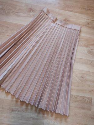 Zara Pleated Skirt apricot polyester