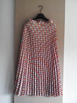 Zara Plissee-Midirock mit geometrischem Muster, Größe M, neu