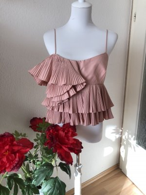 Zara Inserción de blusa color rosa dorado-rosa