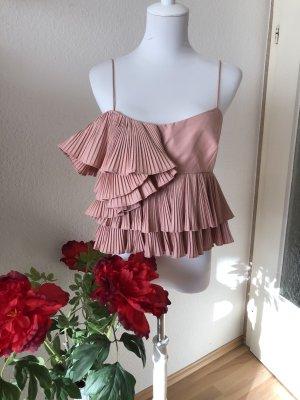 Zara Empiècement de blouses or rose-rose