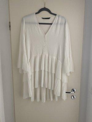Zara Plisseebluse Kleid M