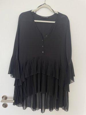Zara Plisseekleid Kleid Bluse plissiert Plisseebluse Gr S