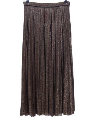 Zara Gonna pieghettata marrone puntinato stile casual