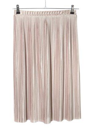 Zara Falda plisada rosa look casual