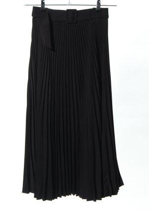 Zara Geplooide rok zwart zakelijke stijl