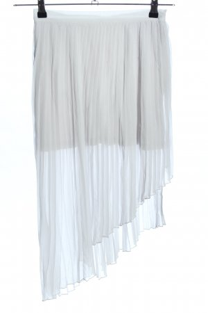Zara Plisseerock weiß Elegant