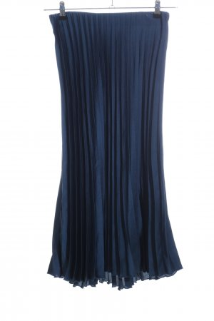 Zara Plisseerock blau Casual-Look